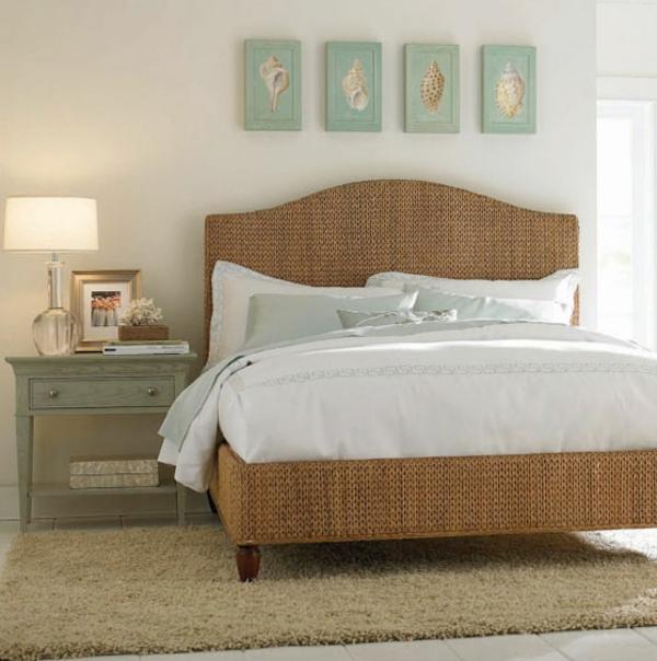 tolle-Betten-Bananenblatt-Schlafzimmerdesign