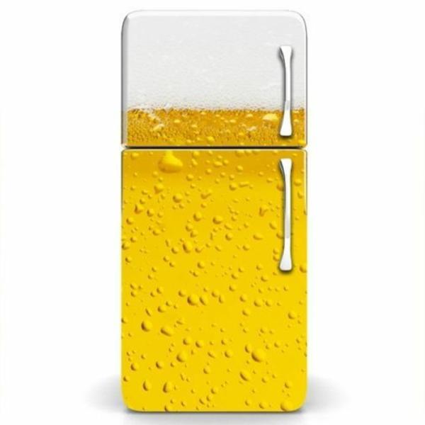 Bierglas-Kühlschrank-Aufkleber