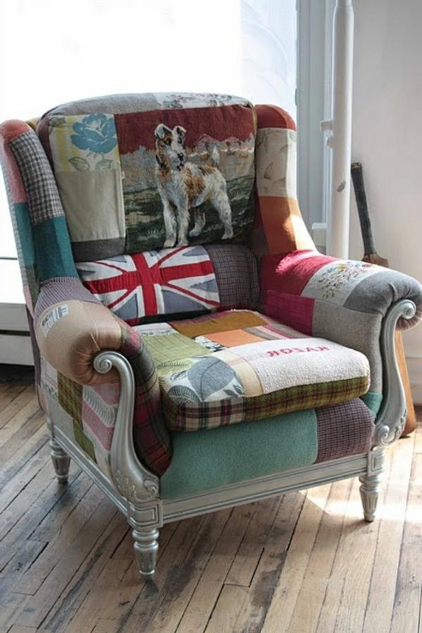 moderner-Bunter-patchwork-Sessel-interessant