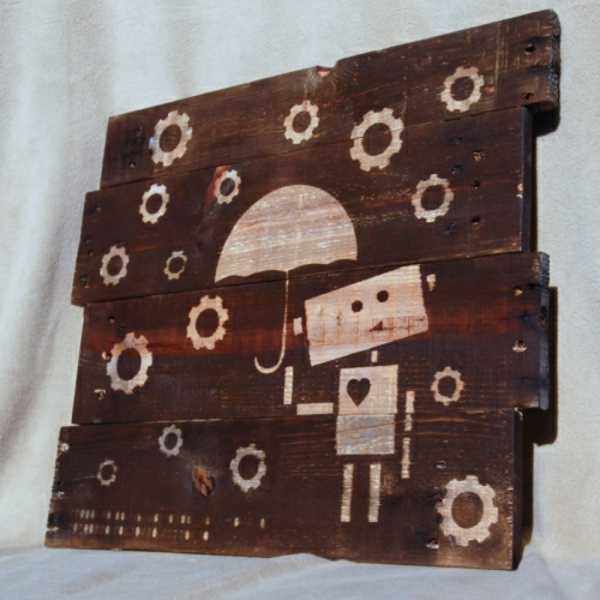 DIY-wand-dekoration-wooden-pallets-upcycled-art-industrial-robot