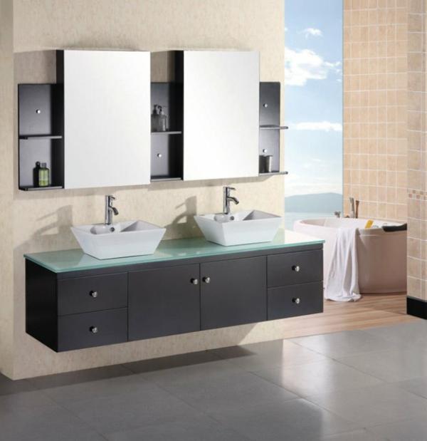 Doppelwaschtisch mit unterschrank aktuelle beispiele for Badezimmer doppelwaschbecken mit unterschrank