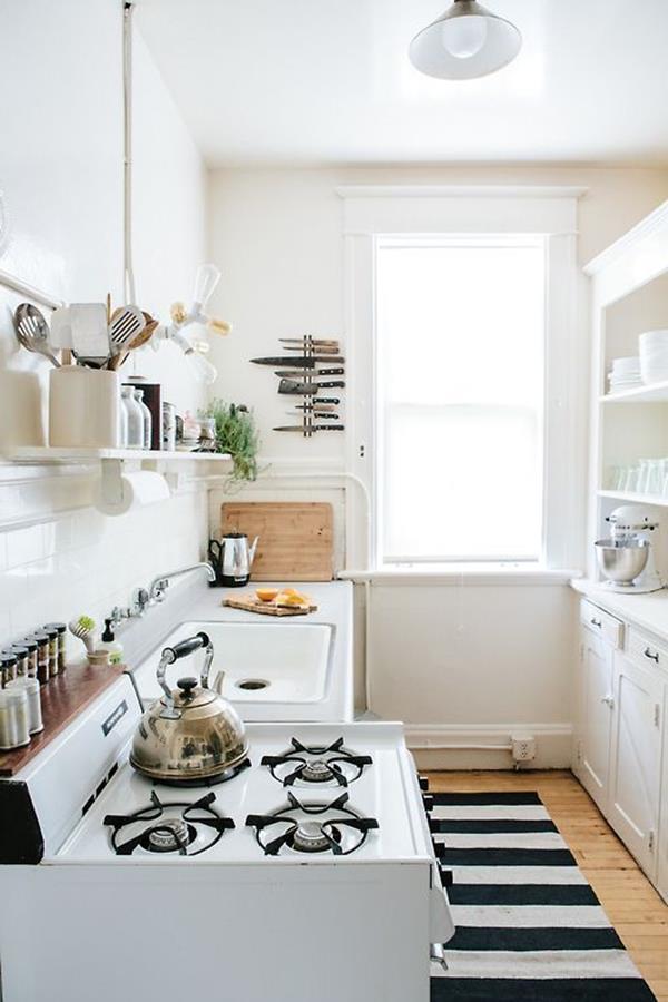 Design-einrichtungsideen-kleine-küche-Holzboden