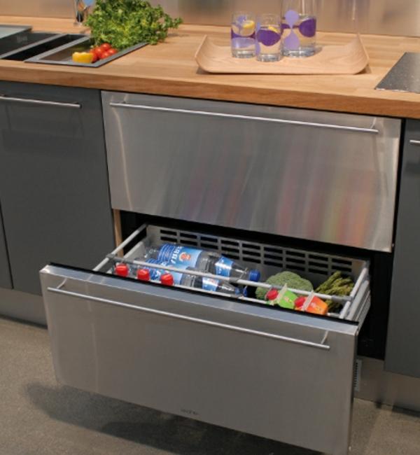 Designidee-Kühlschränke-mit-Schubladen-Küchengestaltung