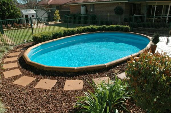 ... Effektvolle Poolgestaltung Im Garten ...