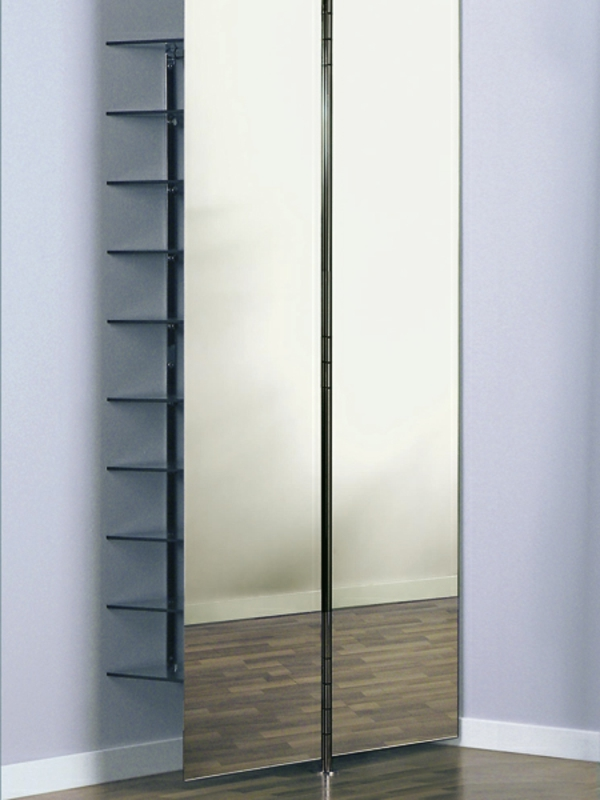 schuhschrank mit spiegelfront- moderner look
