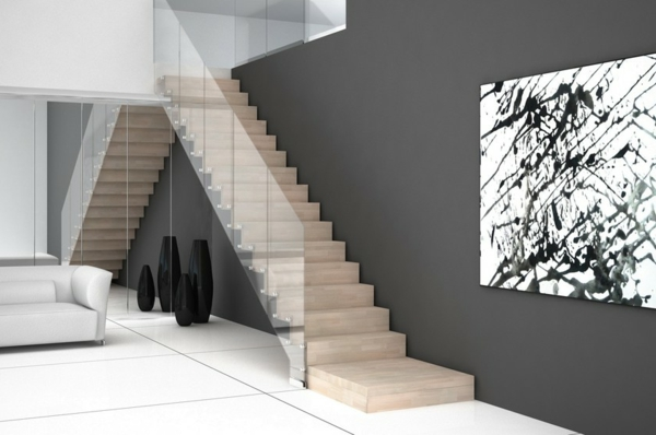 freitragende treppe coole ideen. Black Bedroom Furniture Sets. Home Design Ideas
