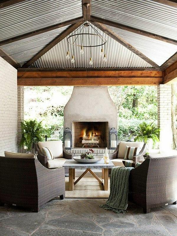 Gartenkamin-für-draußen-schön-gestalten-modernes-desgin