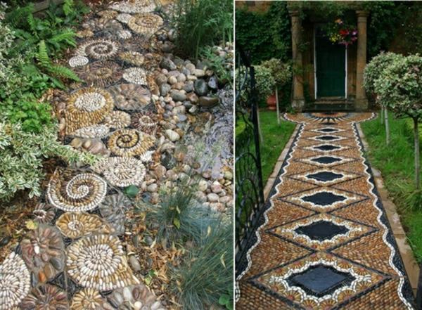 Gartenwege anlegen kreative beispiele - Garten mosaik ...