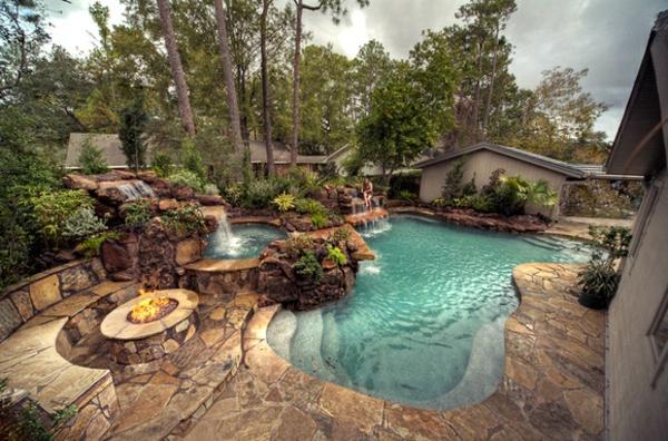 Fantastisch Effektvolle Poolgestaltung Im Garten