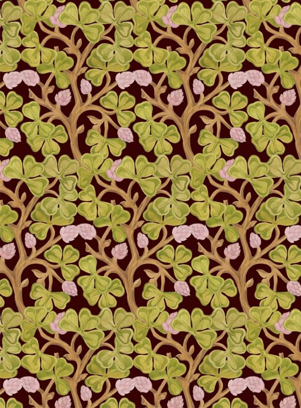 Jugendstil - Ornamente- Vorlagen-blumen-für-die-damen-grün-und-rosa