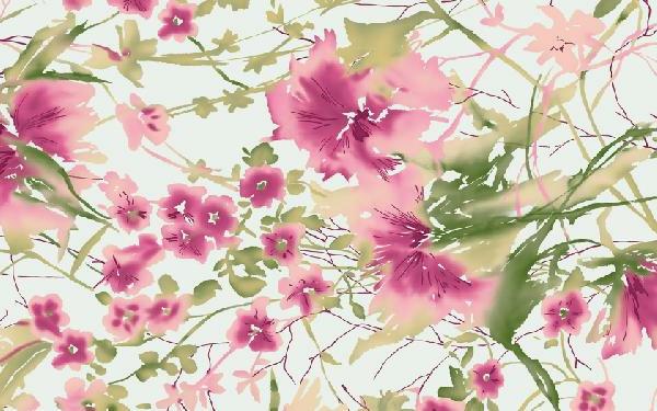 Jugendstil - Ornamente- Vorlagen-blumen-rosa-grün-sehr-zart