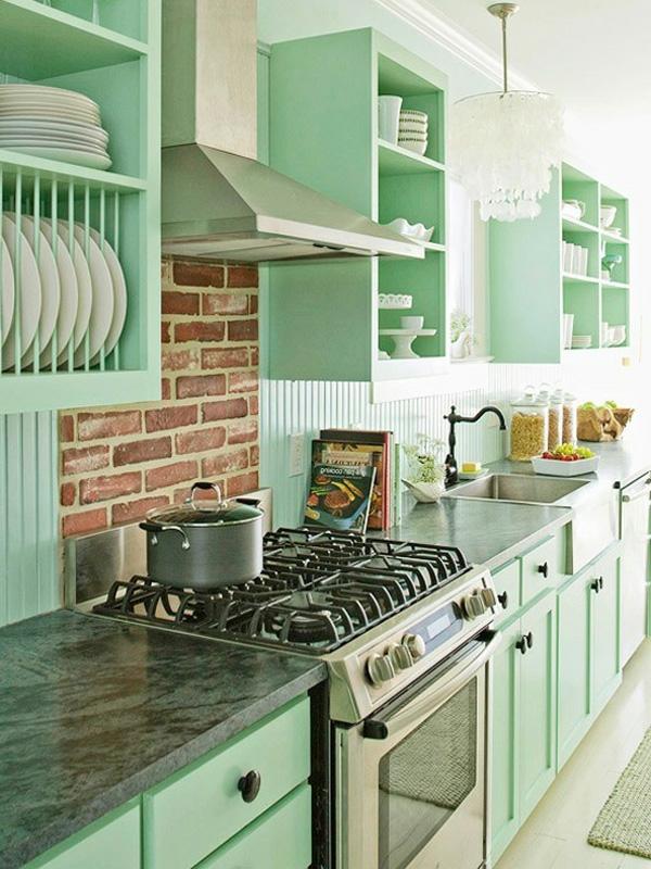 Küchengestaltung-mit-Möbeln-in-Vintage-Stil-Designidee