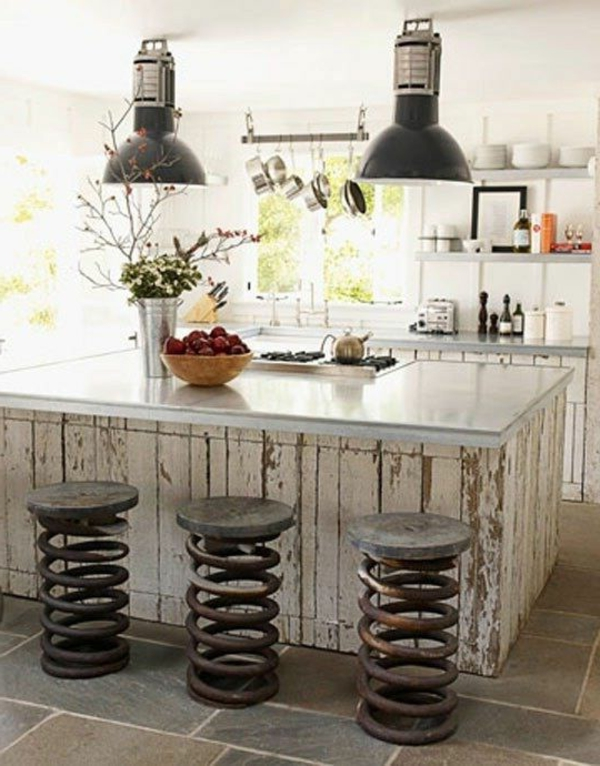 Küchenmöbel-in-Vintage-Stil-Kücheninsel