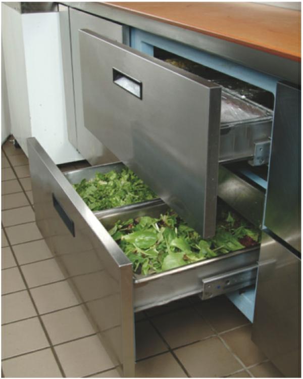 Kühlschränke-mit-Schubladen-Küche-Designidee-moderne-Gestaltung