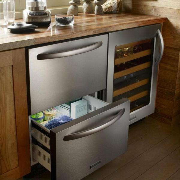 Schubladen Kühlschrank praktisch und cool