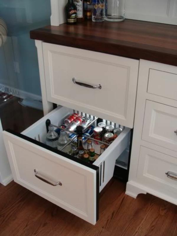 Kühlschrank-Schubladen-Küche-weiße-Farbe-Vintage