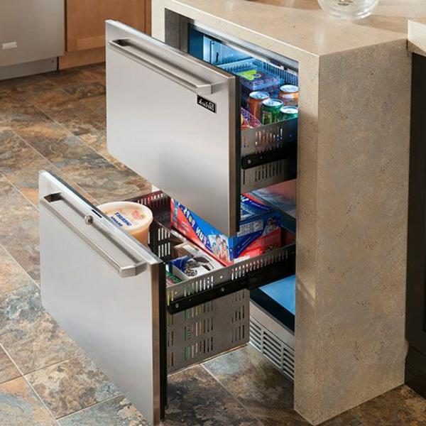 schubladen kühlschrank-praktisch und cool! - archzine.net - Schubladen Küche