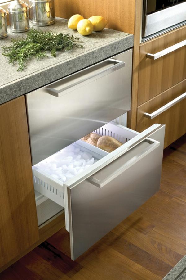 Kühlschrank-mit-Schubladen-Küchengestaltung-Wohnidee