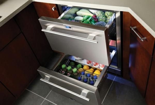 Kühlschrank-mit-Schubladen-Küchengestaltung--Designidee