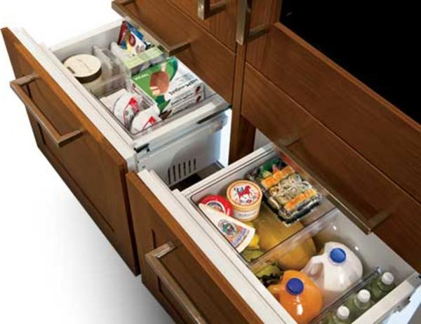 Kühlschrank-mit-Schubladen-Küchengestaltung-Idee