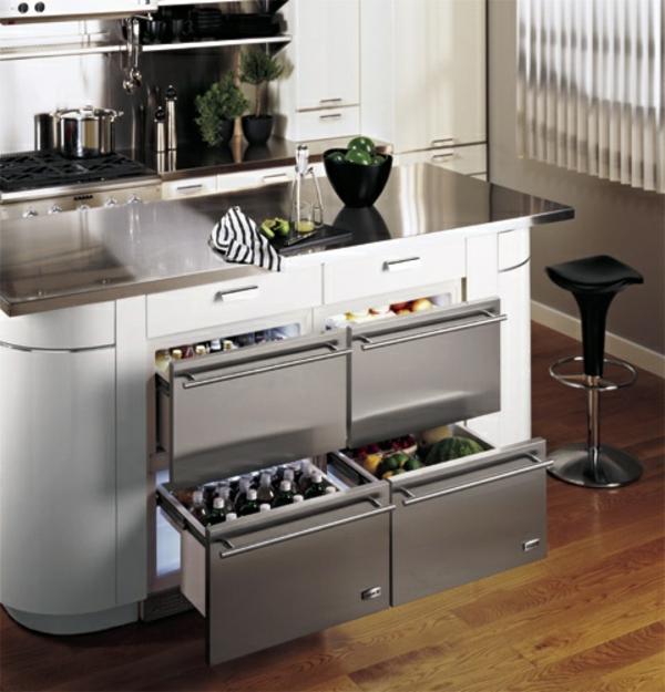 Kühlschrank-vier-Schubladen-Küche-Idee-moderne-Küche