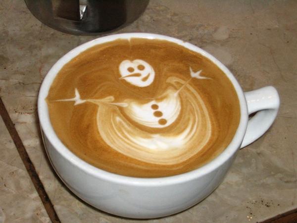 Kaffee-lustiges-Bild-Schneemann