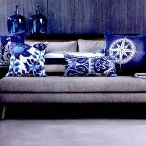 Blaue Kissen sind exzentrisch. Haben Sie gehört?