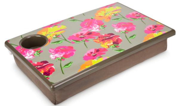 Kissen-für-Laptop-mit-Tablett-Blumenmotiven