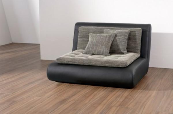 bequemer-Longchair-Sessel-schwarz-grau
