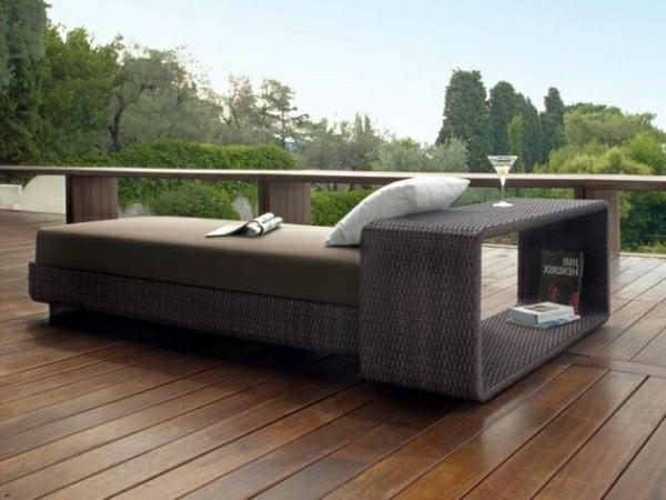 Lounge-Gartenmöbel-Liege-Rattan-bequeme-Möbel