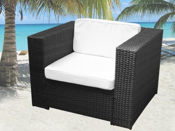 effektvolle polyrattan loungem bel. Black Bedroom Furniture Sets. Home Design Ideas
