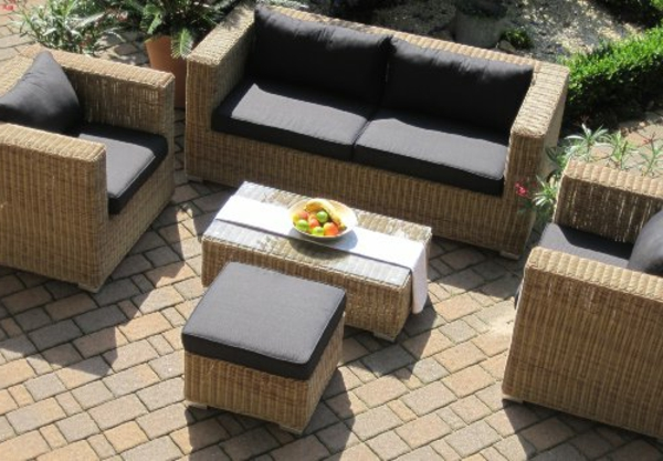 garten loungem bel polyrattan. Black Bedroom Furniture Sets. Home Design Ideas