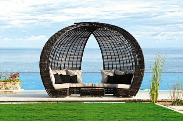 attraktive loungem bel aus rattan. Black Bedroom Furniture Sets. Home Design Ideas