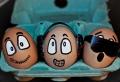 Lustig bemalte Eier!