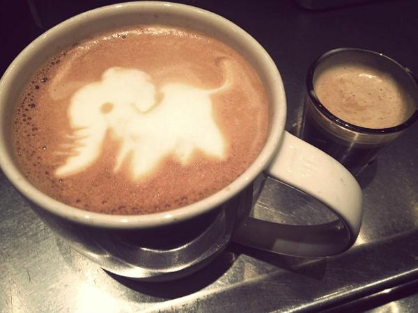Lustige-kaffee-bilder-elephant-dekoidee