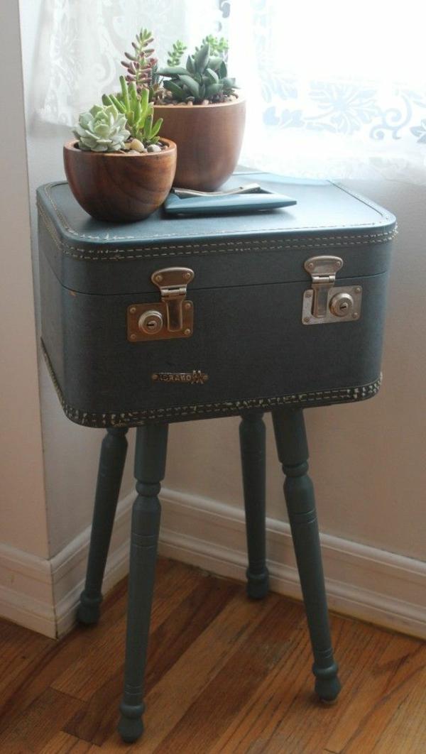 Möbel-Vintage-Retro-Tisch-Koffer