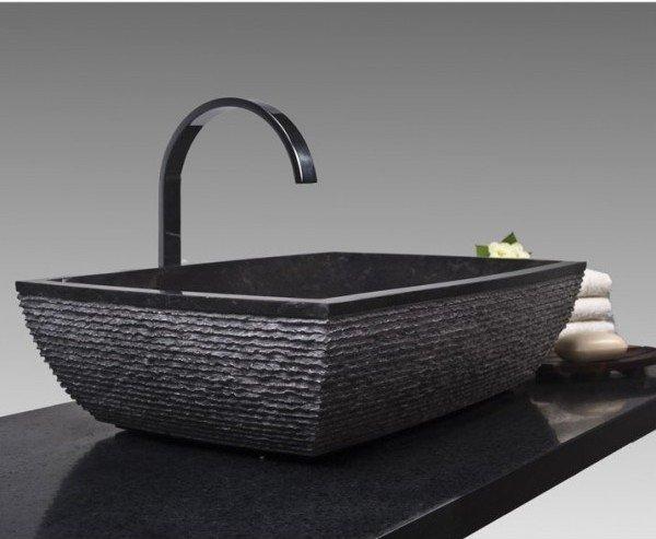 designer waschbecken mit unterschrank aus holz auffallende. Black Bedroom Furniture Sets. Home Design Ideas