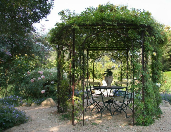 ordinary photo pergola fer forge 11 metall gartenlaube mit vielen. Black Bedroom Furniture Sets. Home Design Ideas