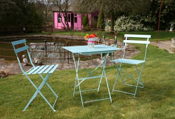Metall- Gartenstühle-Gartenmöbel-Ideen-Design