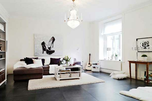 nordische mode bei der einrichtung 50 fotos. Black Bedroom Furniture Sets. Home Design Ideas
