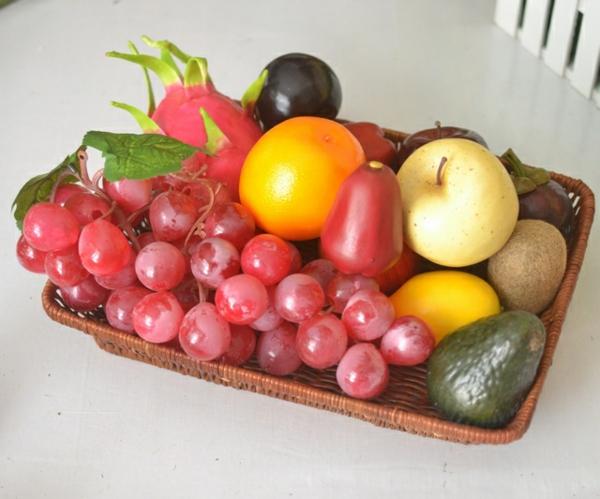 Obstdeko-Obstplatte-mit-künstlichem-Obst-Idee