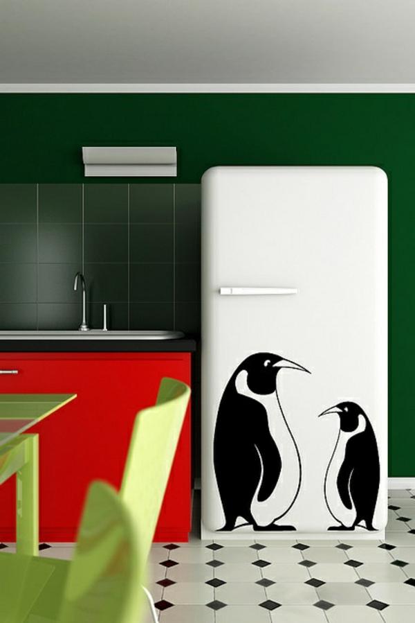 zwei-Pinguins-Aufkleber-für-den-Kühlschrank