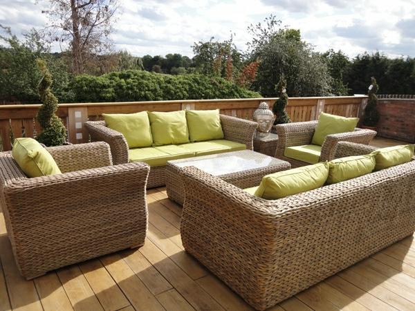 Poly-Rattan-Garten-Möbel-Sofa-Set