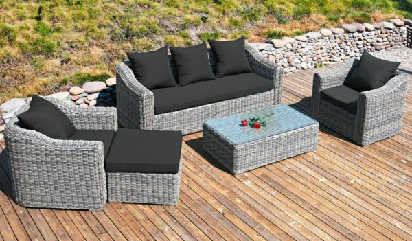 Polyrattan-Außenmöbel-Garten-Möbelset-Ideen