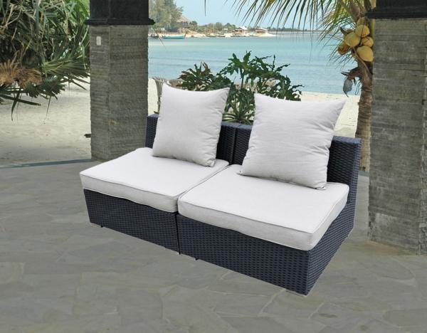 Polyrattan-Außenmöbel-Garten-Möbelset