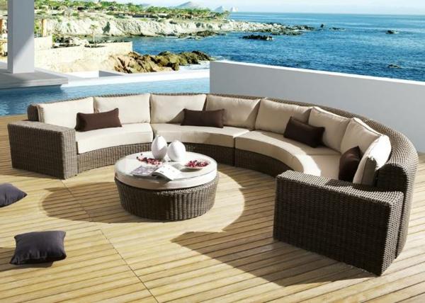 Polyrattan- Loungemöbel-für-Draußen-Möberlset-Designidee