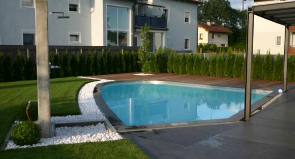 Effektvolle Poolgestaltung im Garten - Archzine.net