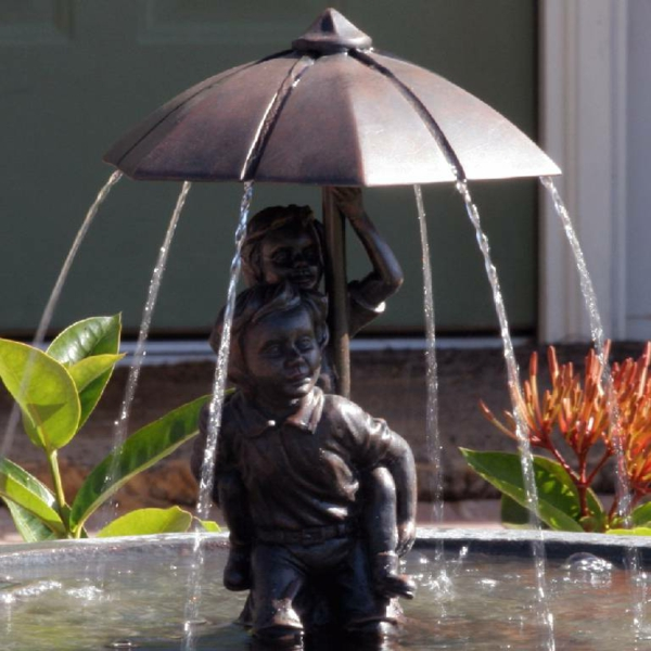 Regenshirm-Fontäne-Solar-Idee-Gartendesgin