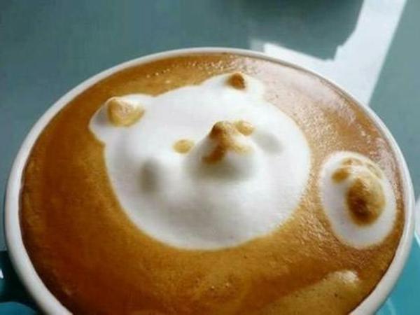 Schaum-Dekoration-Kaffeeart-in-einer-Kaffeetasse