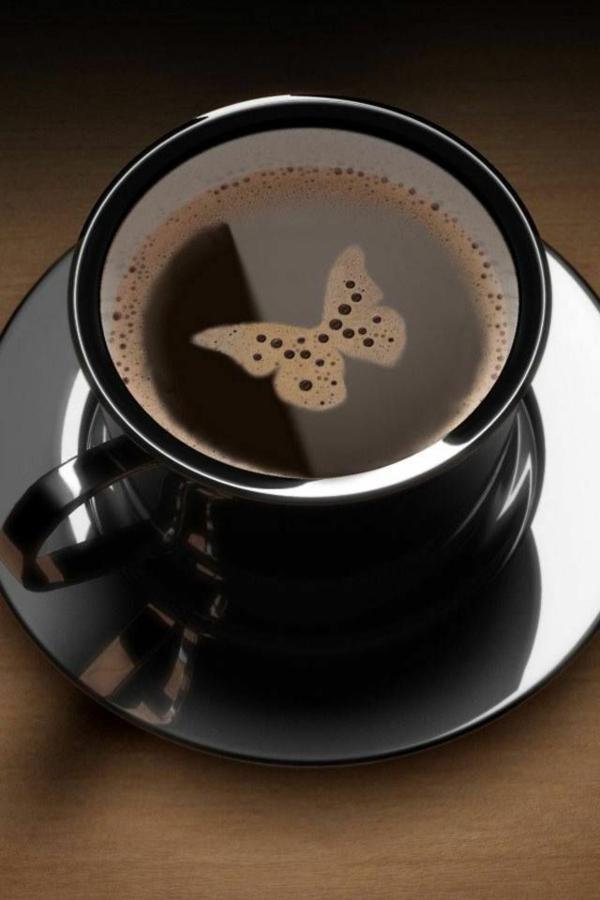 Schmetterling-Kaffee-Dekoration-Dekoidee
